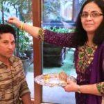 Savita Tendulkar with Sachin Tendulkar