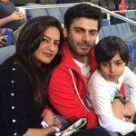 Sadaf Khan with her husband & son