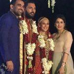 Sagarika Ghatge Zaheer Khan at Yuvraj Hazel wedding