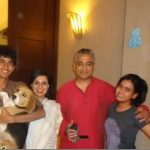 Sagarika Ghose with her husband and children