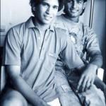 Salil Ankola with Sachin Tendulkar