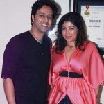 Salim Merchant with his wife