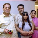 Salman Khan with his Father, Mother & Sister
