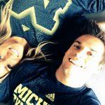 Sam with his girlfriend Anissa Ciani