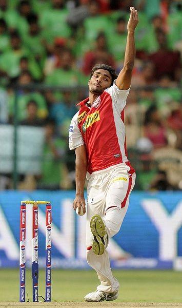 Sandeep Sharma bowling
