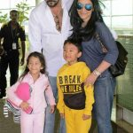 Sanjay Dutt With His And Children Shahraan And Iqra