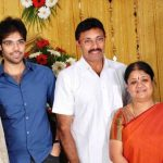 Sathyaraj with his wife and son
