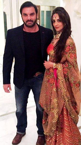 Seema Khan with her husband