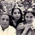 Shabana Azmi with parents Kaifi and Shaukat Azmi