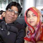 Shabeena Adeeb with her husband Jauhar Kanpuri