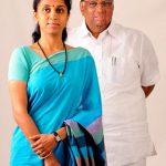 Sharad Pawar with his daughter Supriya Sule