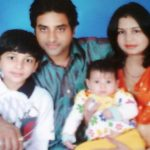 Shashank Udapurkar with his wife and children