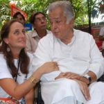 Shashi Kapoor and Sanjana Kapoor
