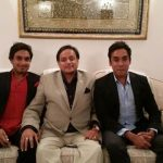 Shashi Tharoor with his sons, Kanishk(left) and Ishan(right)