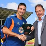 Shaun Marsh receiving Test cap from his father Geoff