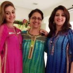 Shefali Zariwala with her mother and sister