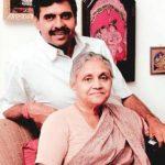 Sheila Dikshit with her husband