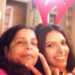 Sherlyn Chopra with her mother