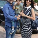Shilpa Shetty with Raj Kundra ans their son