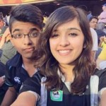 Shirley Setia with her brother