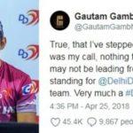 Shreyas Iyer and Gautam Gambhir - Delhi Daredevils