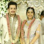 Akhil with her fiancee Shriya Bhupal