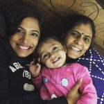 Shruti Anand with her mother