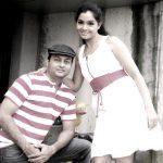 Shubhangi Atre with her husband, Piyush Poorey