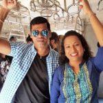 Trupti Jadhav with her husband Siddhartha Jadhav