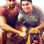 Sidharth Malhotra with his dog