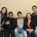 Sidharth Malhotra with his family