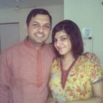 Singer Bhavya Pandit with her brother