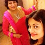 Sneha Ullal with her mother