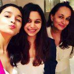 Soni Razdan with her daughters Alia Bhatt and Shaheen Bhatt