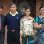 Sriti Jha with her family