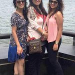 Sukhmani Lamba with her mother and sister