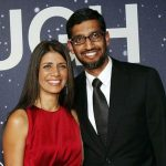 Sundar Pichai with wife Anjali