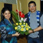 Sunidhi Chauhan with her Father