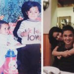 Sunil Chhetri with his sister in both photographs
