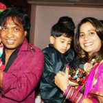 Sunil Pal with his wife and sons