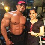 Sunit Jadhav with his wife