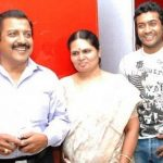 Suriya with his parents