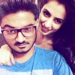 Swati Kapoor with her brother