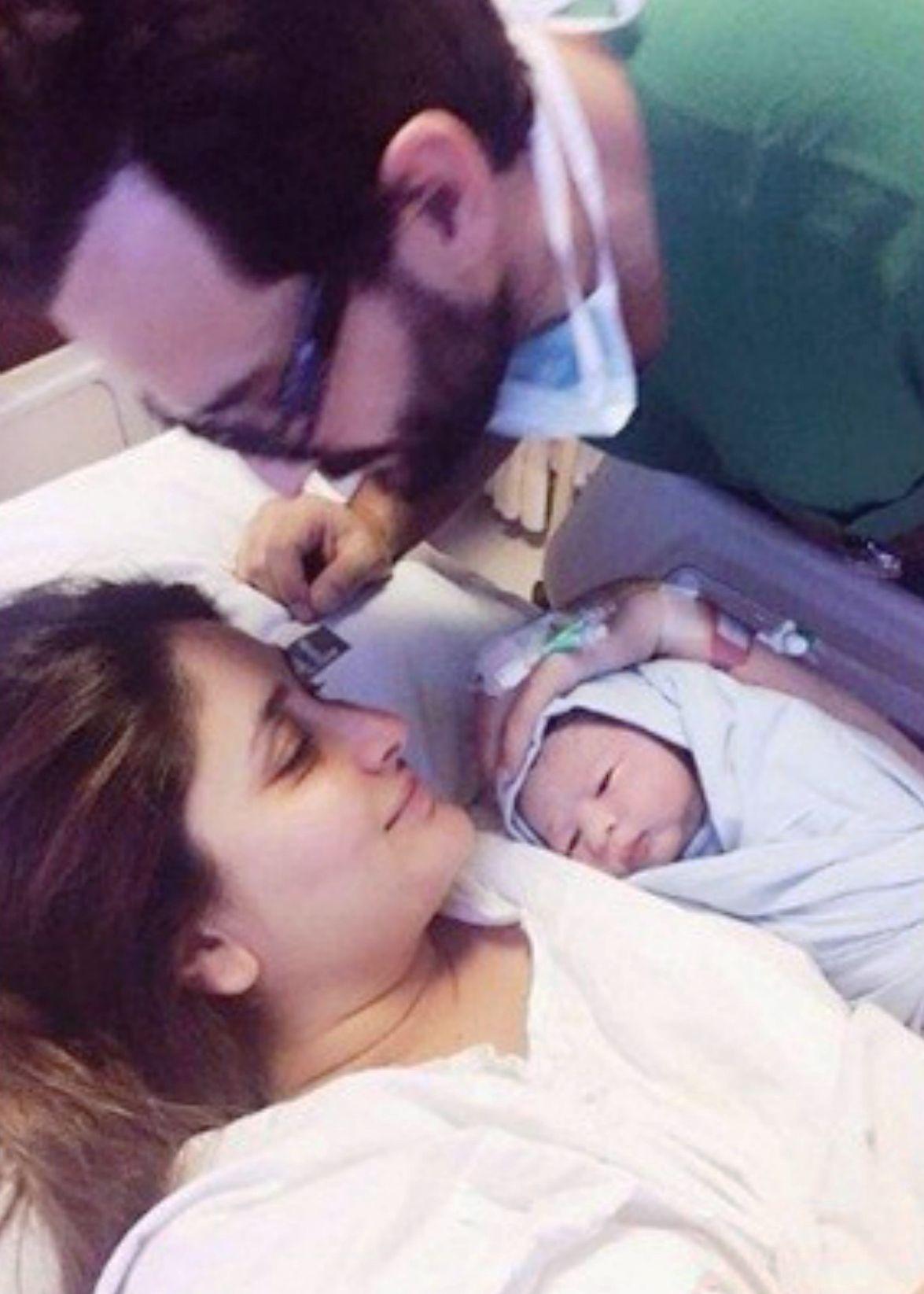 Taimur Ali Khan first pic at the Breach Candy Hospital in Mumbai