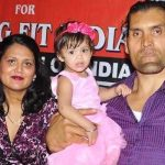 The Great Khali with his wife and daughter