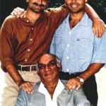 Uday Chopra with his brother and father