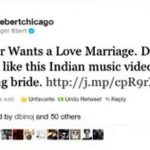 Roger Ebert Tweet About Wilbur sargunaraj