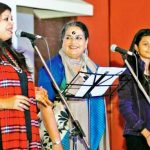 Usha Uthup with her daugher and granddaughter