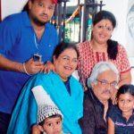 Usha Uthup with her family