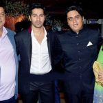Varun Dhawan with his parents and brother